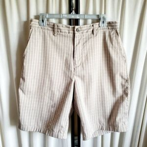 Adidas plaid mens golf shorts, medium